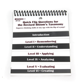 Edupress EP-729 Quick Flip Questions For The Revised Blooms Taxonomy
