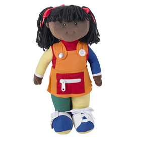 Childrens Factory FPH858 Learn To Dress Doll Black Girl, Price/EA