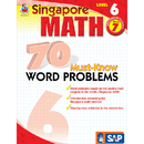 Carson Dellosa FS-014016 Singapore Math Level 6 Gr 7 70 Must Know Word Problems