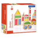 Guidecraft USA GD-3083 Jr Rainbow Blocks 40 Piece Set