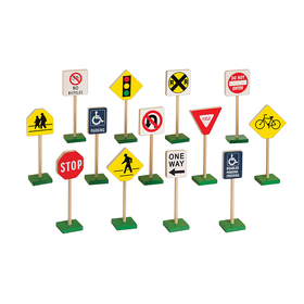 Guidecraft USA GD-309 Traffic Signs 7In 13/Pk, Price/EA