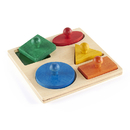 Guidecraft USA GD-527 Geo Puzzle Board Age 1 & Up