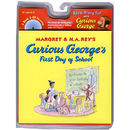 Houghton Mifflin Harcourt HO-618605657 Curious Georges First Day Of School Book & Cd