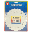 Hygloss Products HYG10061 Doilies 6 White Round 100/Pk