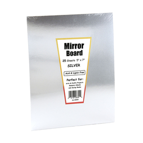 Hygloss Products HYG28355 Mirror Board 5 X 7 25 Sheets, Price/EA