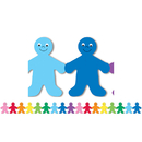 Hygloss Products HYG33606 Rainbow People Mighty Brights Border