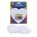 Hygloss Products HYG91041 Doilies 4 White Hearts 100/Pk