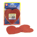 Hygloss Products HYG91044 Doilies 4 Red Heart 100/Pk