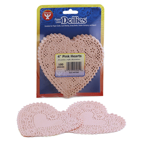 Hygloss Products HYG91045 Doilies 4 Pink Hearts, Price/EA