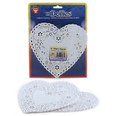 Hygloss Products HYG91061 Doilies 6 White Hearts 100/Pk