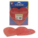 Hygloss Products HYG91064 Doilies 6 Red Hearts 100/Pk