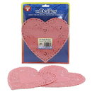 Hygloss Products HYG91065 Doilies 6 Pink Hearts