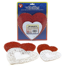 Hygloss Products HYG94466 Doilies White & Red Hearts 24 Each 4In 6In