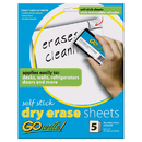 Pacon INVAS8511 Dry Erase Sheets Self Stick 8 1/2