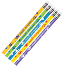 Teachers Friend JRM52063B Birthday Glitter Asst Pencils Dozen
