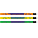 Pacon JRM7917B Pencils Neon Happy Birthday 12/Pk