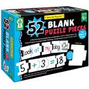 Carson Dellosa KE-846039 Write-On/Wipe-Off 52 Blank Puzzle - Pieces