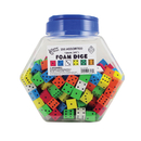 Koplow Games KOP16808 16Mm Foam Dice Tub Of 200 Assorted Color Spot