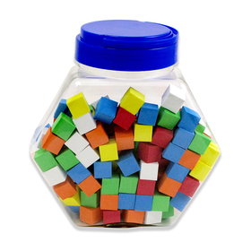 Koplow Games KOP16809 16Mm Foam Dice Tub Of 200 Assorted Color Blank, Price/PK