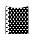 Barker Creek & Lasting Lessons LAS1213L Library Pockets Black & White Dots - Pick A Pocket