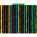Barker Creek & Lasting Lessons LAS1315F Neon Stripes Functional File Folder