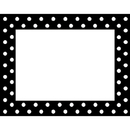 Barker Creek & Lasting Lessons LAS1505 Remember Me Name Tags Black Dots
