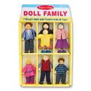 Melissa & Doug LCI2464 Wooden Family Doll Set