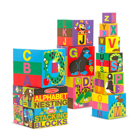 Melissa & Doug LCI2782 Alphabet Nesting & Stacking Blocks, Price/EA