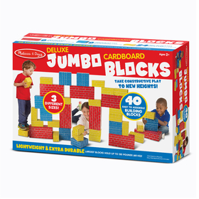 Melissa & Doug LCI2784 Deluxe Jumbo Cardboard Blocks 40 Pc, Price/EA