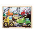Melissa & Doug LCI2933 Wooden Jigsaw Puzzles Construction