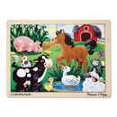 Melissa & Doug LCI2934 On The Farm Jigsaw