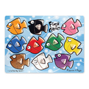 Melissa & Doug LCI3268 Fish Colors Mix N Match Peg Puzzle