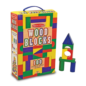 Melissa & Doug LCI481 Painted Unit Block Sets 100-Pc Set, Price/EA