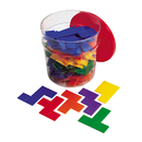 Learning Resources LER02866 Rainbow Premier Pentominoes 6 Sets In Clear Tub