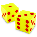 Learning Resources LER0411 Giant Soft Cubes Dot 2Pk 5In Square