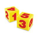 Learning Resources LER0412 Giant Soft Cubes Numeral 2/Pk 5 Square