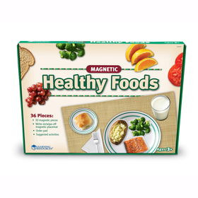 Learning Resources LER0497 Magnetic Healthy Foods 34 Pcs W/ Placemat, Price/EA