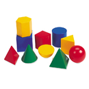 Learning Resources LER0922 Large Geometric Shapes 10/Pk 3D