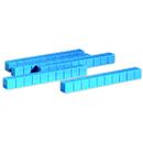 Learning Resources LER0925 Base Ten Rods Plastic Blue 50 Pk 1X1X10Cm