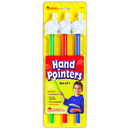 Learning Resources LER2655 Hand Pointers 3-Set Assorted Colors