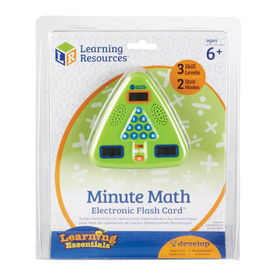 Learning Resources LER6965 Minute Math Electronic Flash Card, Price/EA