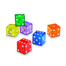Learning Resources LER7699 Jumbo Dice In Dice Set Of 12