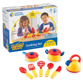 Learning Resources LER9155 Pretend & Play Cooking Set 10 Pcs, Price/EA