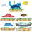 Little Folks Visuals LFV22851 Pete The Cat I Love My White Shoes - Flannelboard Set
