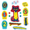 Little Folks Visuals LFV22852 Pete The Cat And His Four Groovy - Buttons Flannelboard Set