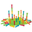 Patch Products LR-2446 Large Tall-Stacker Peg Set 50 Pegs 11-1/2 100-Hole Board