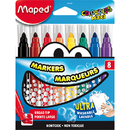 Maped Usa MAP846048 Broad Tip Markers 8 Color Set