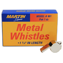 Dick Martin Sports MASM1 Whistle Small Metal 12/Pk 1-3/4L