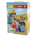 Miniland Educational MLE32339 Super Blocks Farm Set