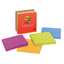 3M MMM6756SSAN Post-It Notes Super Sticky 6 Pads Neon Fusion Colors 4 X 4 Lined